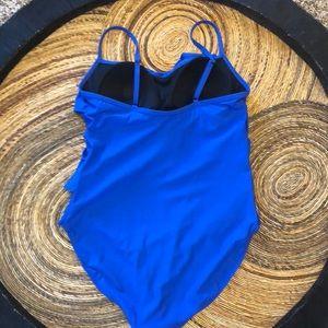 aqua green Swim - Aqua Green ruffled front one piece bathing suit